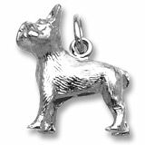 French Bulldog Charm $31.50 http://www.charmnjewelry.com/category/sterling_silver/Dog_Charms.htm #SilverCharm