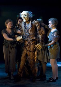 """Chichester Playhouse....life size puppet of the ghost of Marley from this production of the Dicken's classic """"A Christmas Carol"""""""