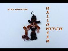 Rainbow Loom - Halloween Witch Charm - Loom bands (Original Design) - YouTube