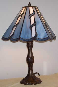 Blue Lamp by cpstainedglass on Etsy, $135.00
