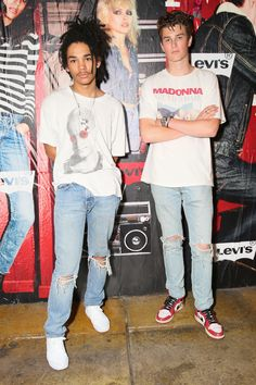 Luka Sabbat and Jonah Levine look great in their 505C jeans to our launch party in Manhattan on Tuesday.