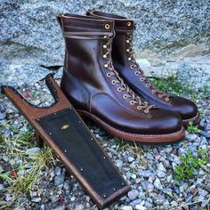 Clinch Lineman Boots. (made in japan, brass Tokyo, hand made, craftsmanship