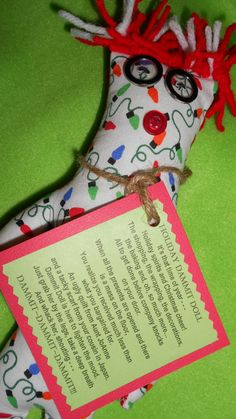 Holiday Lights Dammit Doll by tobeesgifts on Etsy, $14.95