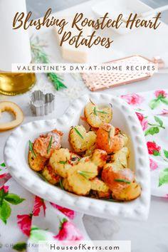 Blushing Heart Sheet Pan-Roasted Potatoes Recipe | La Cucina di Kerrs -