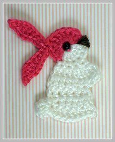 Bunny rabbit appliqué.. Free pattern!