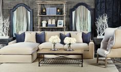 Lounge room in sand velour