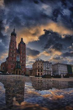 galeriakrakow: KRAKOW Sunrise (via . by ~lectral on deviantART) Beautiful Places In The World, Places Around The World, Around The Worlds, World Youth Day, Krakow Poland, Central Europe, Beautiful Sky, Places To See, The Good Place
