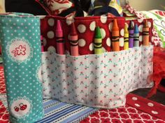 Easy Sewing for Christmas by Studio 5- roll up carrying case for crayons, hot wheel cars, etc. Kleenex tissue holder, etc.