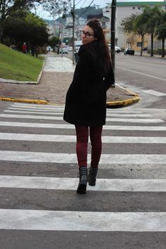 Nanda Pezzi - Calça marsala + Coturno - Look frio