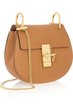 Chloé | Drew mini textured-leather shoulder bag | NET-A-PORTER.COM