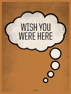 Wish You Were Here screen print by kollectivefusion on Etsy, $30.00