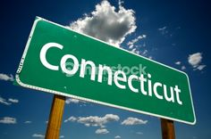 Stock Photo : Connecticut Road Sign