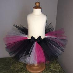 Hot Pink and Black Tutu, Pink Black and White Tutu, Zebra Tutu, Baby Girl Tutu…