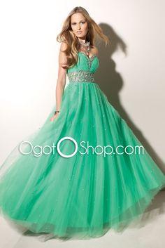 green prom/ball