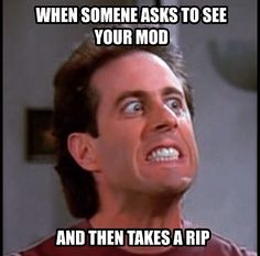 This page contains a large collection of vape memes and is only vape related. You will find funny videos and dank vaping memes of your dreams. There are also great vape mods, e-juice and many other. Juul Vape, Vape Memes, Smoke Shops, Vape Shop, Vape Juice, I Laughed, Things To Think About, Humor, Vaping
