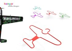 """Hangar"" clothes hanger - Cool hangers for your kids' closet!  #kids"
