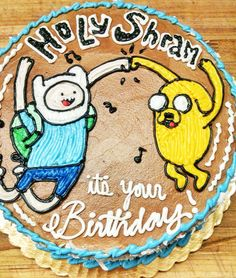 Adventure Time birthday cake by Mueller's Bakery!