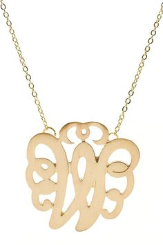 Single letter gold monogram necklace - only $15!