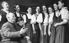 "The Von Trapp family of ""The Sound of Music"" fame in 1943, after their escape from Nazi occupied Austria."