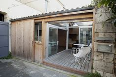 large sliding door - exposed patio when you want it, can also close for privacy