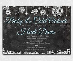 Baby Its Cold Outside Baby Shower Invitation. Winter by arthomer