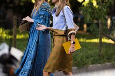 great interpretation of relaxed shirt-trousers combo - Eclectic Jewelry and Fashion