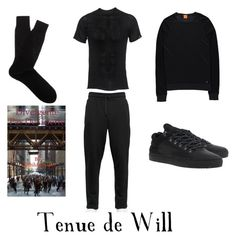 """""""Tenue de Will"""" by clothilde-chapel ❤ liked on Polyvore featuring Dolce&Gabbana, Label Under Construction, Filling Pieces, Pantherella and BOSS Orange"""