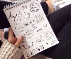 23 images about doodles✍ on We Heart It Tumblr Drawings, Doodle Drawings, Easy Drawings, Doodle Art, Drawing Sketches, Notebook Drawing, Notebook Doodles, Cute Doodles, Bullet Journal Inspiration