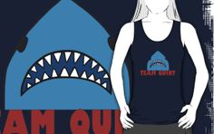 team quint, jaws, jaws movie, jaws, shark, great white, sharks, quint, brody, shark teeth, orca, movie poster, movie, water, ocean, parody, funny, pop, geek, nerd, pun, punny, mako, classic movie, spielberg, puns, nautical, surfing, amity, surf, seas, atlantic, movies, pop culture For sale as T-Shirts, iPhone Cases, Samsung Galaxy Cases, iPad Cases, Stickers, Posters, Greeting Cards, Photographic Prints, Art Prints, Framed Prints, Canvas Prints, Metal Prints, Kids Clothes and Throw Pillows.