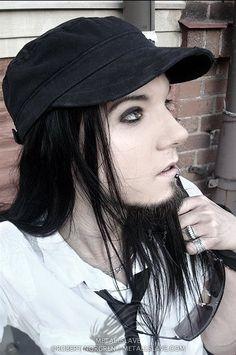 long hair man - goth boy
