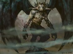 Pestilence Demon art by Justin Sweet