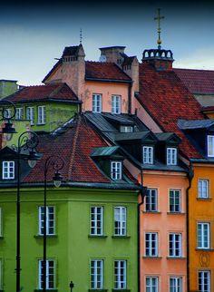 El colorido de los polacos en Varsovia.