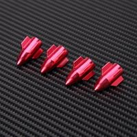 4pcs Universal Car SUV Wheel Tire Valve Stem Red Rocket Anit-dust Stem Cover Cap