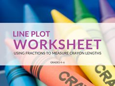 With this line plot worksheet students will use their knowledge of fractions, measure objects, and practice displaying/analyzing data using line plots! Line Plot Worksheets, Math Fractions, Math Resources, Objects, Students, Knowledge, Blog, Free, Math