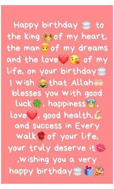 Birthday Wishes For Lover, Happy Birthday Best Friend Quotes, Boyfriend Birthday Quotes, Birthday Wish For Husband, My Happy Birthday, Advance Birthday Wishes, Sweet Boyfriend Quotes, Birthday Quotes Bff, Beautiful Birthday Wishes