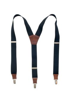 4643a361366 Soul Suspenders Black on Brown 1.3 inch 3.5 cm wide