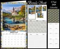- 2020 Mini Calendar You get 6 pages Page 1 - Topper with pyramage Page 2 - Matching note paper to put inside Page 3 - P. African Cats, Vintage Horse, 2019 Calendar, Calendar Design, Note Paper, Paper Background, When Someone, Craft Fairs, Julio Iglesias