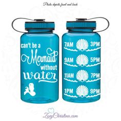 Water Intake Bottle Mermaid Bottle Mermaid Water Bottle Can't Be a... ($17) ❤ liked on Polyvore featuring home, kitchen & dining, drink & barware, drinkware, home & living, mugs and pink