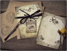 Delicate Death  Elegant Note Card Set with by BedlamSupplyCo