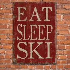 Eat Sleep Ski wooden sign. Handmade. from DesignHouseDecor on