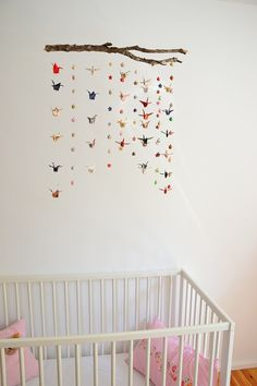 Origami Mobile Cranes and Stars by WildChildShop on Etsy, $69.00