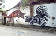 Street Art by Libre Hem & Acaro, located in London, UK