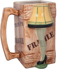 Christmas Story Leg Lamp Molded Ceramic Mug