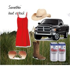 My favorite song. Been looking for a red sundress since I heard this song... But I must say... Coors light!?! Really?! Bud light!!