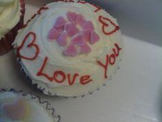 'love you' cupcake