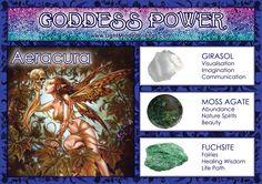 Goddess Power: Aeracura - Stones: Girasol, Moss Agate and Fuchsite