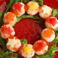 みんなで作ろう!流れ星リースの手まり寿司 くらしプラ酢 ミツカングループ商品・メニューサイト