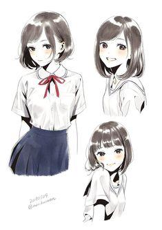 Arts of Girls Makeup Hacks makeup cleaning hacks Anime Drawings Sketches, Anime Sketch, Manga Drawing, Manga Art, Cute Drawings, Fan Art Anime, Anime Art Girl, Anime Girls, Manga Poses