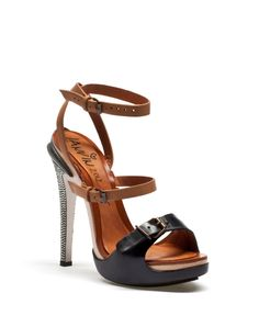 Lanvin - OPANCA SANDAL IN MAT, SMOOTH LEATHER