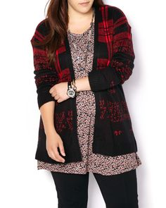 Plaid Ombre Cardigan | Penningtons